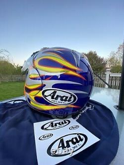 Arai Quantum 2 Re Entry Blue motorcycle helmet Hot Rod Size Medium