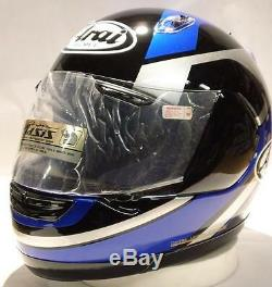 Arai Quantum f Chandler Blue Silver Black motorcycle helmet Yamaha full face