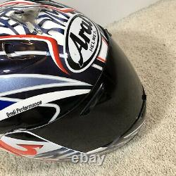 Arai RX-7 Corsair Helmet MotorCycle Fullface Size Large Drudi Peformance