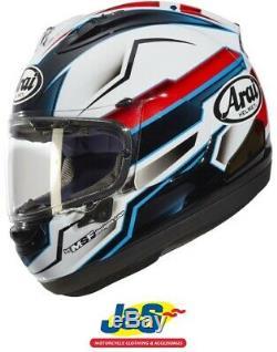 Arai RX-7V Scope Full Face Motorcycle Helmet Racing Motorbike White Red Blue J&S