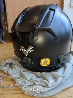 Arai RX-7V (Size M) Frost Black Motorcycle Helmet incl 3 x visors. Free P&P