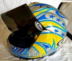 Arai RX7 John Reynolds Rizla Suzuki Race Replica Helmet Size M with 4 visors