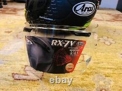 Arai RX7V RX-7V RX7 Cal Crutchlow Replica Full Face MINT CONDITION Dark Visor