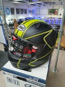 Arai Renegade Diablo Yellow Large Motorcycle Helmet Anti-fog Paint Fault