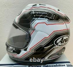 Arai Rx-7v Mamola Edge White Motorcycle Helmet Small Ex Display
