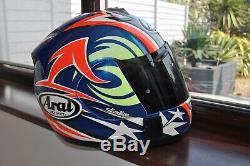 Arai Rx7 Corsair Nicky Hayden Motorcycle Helmet Size Small 55 56 CM Motorbike