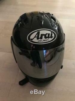 Arai Rx7-rr4, Med F/f Motorcycle Black Helmet + 3 Visors Out Of Warranty