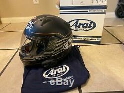 Arai Signet-Q US Flag Full Face Motorcycle Helmet Frost Black, Large