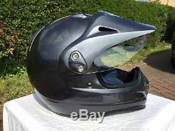 Arai Tour Cross Helmet Size 58/M. Excellent Condition In Metallic Anthracite