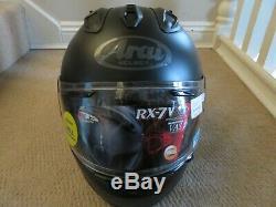 Arai helmet RX-7V frost black brand new size l full face