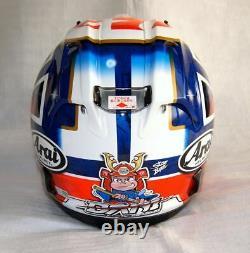Arai helmet RX-7X corsair-x rx-7v pedrosa samurai spirits type 2 blue Casque ca