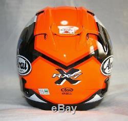 Asian fit Arai full face helmet RX-7X CORSAIR-X BRACKET RX-7V MAZE red/black