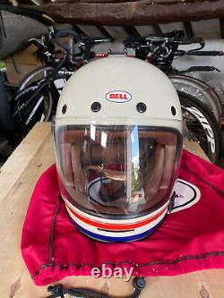BELL BULLITT DOT MEDIUM M RETRO NO. 218 1475g Motorbike Motorcycle Crash Helmet