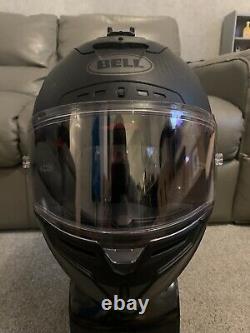 BELL STAR RACE FLEX DLX CARBON in MATTE Black Motorcycle Helmet SIZE MEDIUM / M