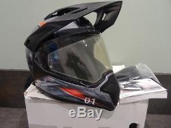 BMW GS Carbon Xplore Adventure / Enduro Helmet Size L 58/59cm Gloss Silver / Red
