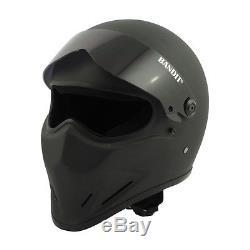 Bandit Crystal Full Face Helmet Matt Black