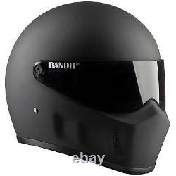 Bandit Super Street 2 New Motorcycle Helmet Streetfighter Fibreglass dull black