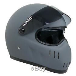 Bandit Xxr Helmet Matt Asphalt Grey Street Fighter Helmet Custom Aggressive Cool