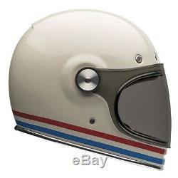 Bell Bullit Stripes Vintage White Motorbike Helmet