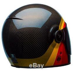 Bell Bullitt Carbon Full Face Motorcycle Helmet Chemical Candy Black Gold XSmall