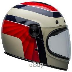 Bell Bullitt Carbon Motorcycle Helmet Hustle Matt/Gloss Red/Sandy/Candy Blue