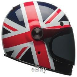 Bell Bullitt Carbon Motorcycle Helmet Spitfire Blue / Red All Sizes