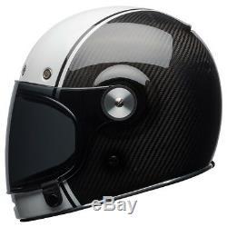Bell Bullitt Carbon Motorcycle helmet Pierce Black / White (37% off!)