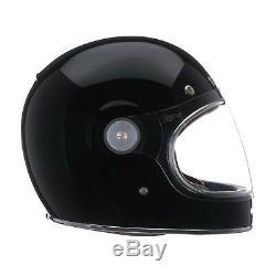 Bell Bullitt Motorcycle Helmet Retro Gloss Black New Dot Ece 22.05 Bullet