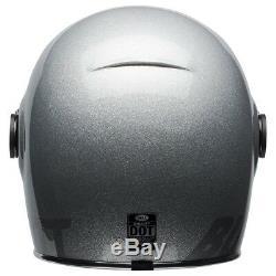 Bell Bullitt Motorcycle helmet Gloss Silver Flake All Sizes