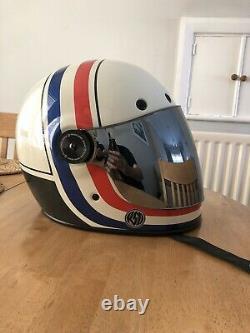 Bell Bullitt RSD VIVA Motorcycle Helmet Medium 57-58cm White/red/blue