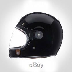 Bell Bullitt Retro Motorcycle Helmet Black Gloss