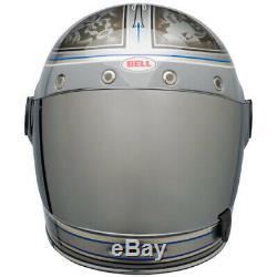 Bell Bullitt Schultz Century Limited Edition Full Face Motorcycle Helmet Silver