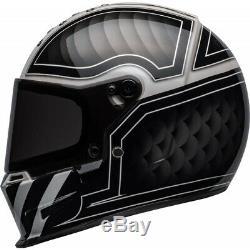 Bell Eliminator Outlaw FullFace Motorcycle Helmet Biker Black White J&S SRP £350