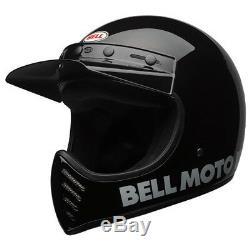 Bell Moto 3 Classic Black Motorcycle Helmet