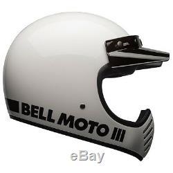 Bell Moto 3 Classic Helmet Gloss White