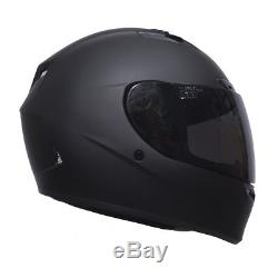 Bell Qualifier DLX Motorcycle Helmet Blackout Matt Black + FREE Dark Visor