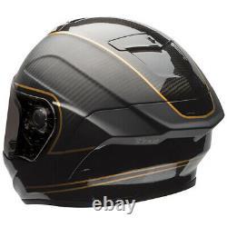 Bell Race Star Ace Cafe Speed Check Matt Black/gold Motorcycle Helmet Large