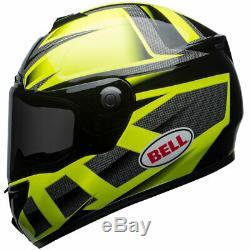 Bell SRT Predator Hi-Viz Green / Black Motorbike Motorcycle Helmet