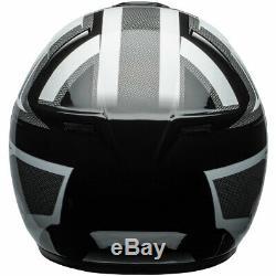 Bell SRT Predator White / Black Motorcycle Motorbike Helmet