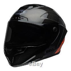 Bell Street 2020 Race Star DLX Adult Helmet LUX M/G Black/White/Orange Size S