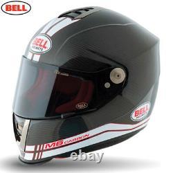 Bell Street M6 Carbon Race White Motorcycle Motorbike Bike Helmet