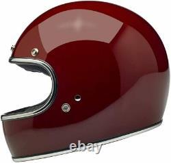 Biltwell Gringo DOT / ECE FULL FACE Motorcycle Helmet XL Gloss Garnet X-LARGE