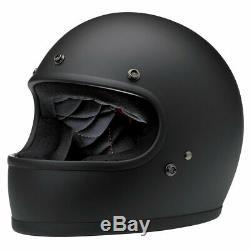 Biltwell Gringo ECE Flat Black Motorcycle Motorbike Helmet