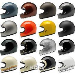 Biltwell Gringo Full Face Motorcycle Helmet Choose Size & Color