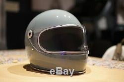 Biltwell Gringo S Full Face Retro Motorcycle Helmet Agave Blue