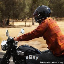 Biltwell Inc Gringo Full Face Retro Helmet Gloss Black