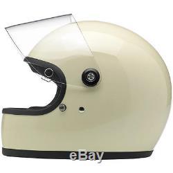 Biltwell Inc Gringo S Full Face Retro Helmet Vintage White