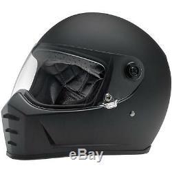 Biltwell Lane Splitter Lanesplitter Full Face Motorcycle Helmet Matt Black
