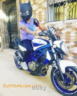 Black Panther custom motorcycle helmet like Batman worldwide free shipping ECE