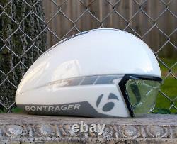 Bontrager Aeolus Helmet Visor Time Trial Aero Bike Rare White NOS Trek Triathlon